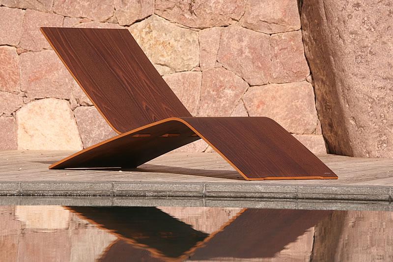 Chair deck chair deckchair table galevi italy - Table jardin acacia ...